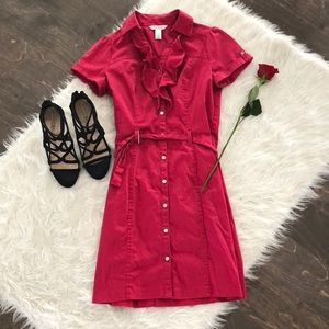 White House Black Market Raspberry Trench Dress